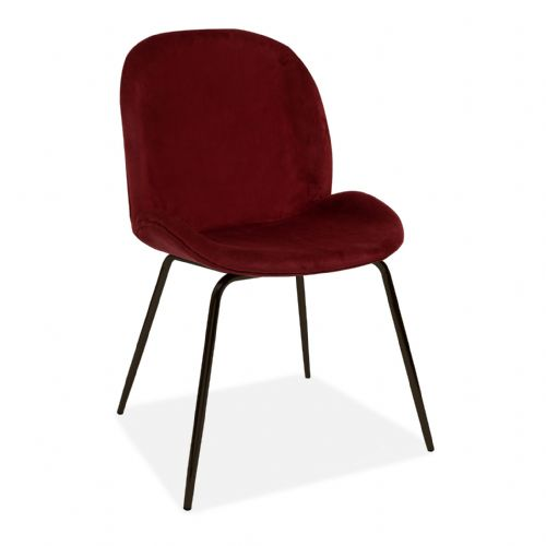 x2 Mmilo Journey Chair with Burgundy Seat and Black Legs